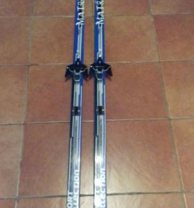 Лыжи синие