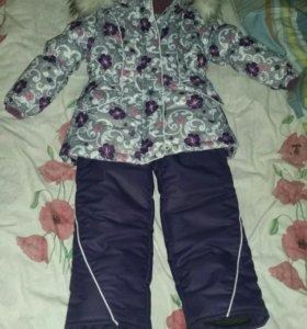 зимний костюм для девочки 98 р-р
