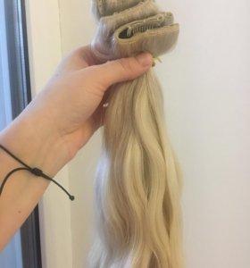 Волосы на заколках,новые,50 см