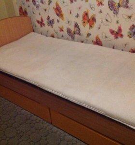 Кровать+матрас+наматрасник