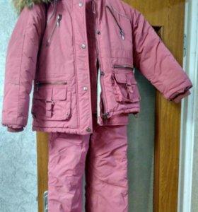 Детский костюм-тройка на девочку 5-7 лет