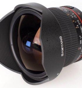 Объектив fish eye samyang 8mm.1:3.5!! торг!!