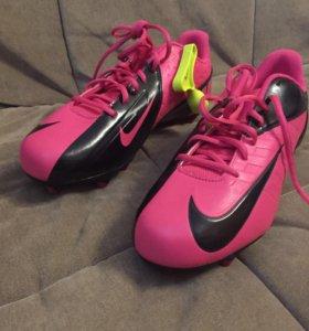 Бутсы футбольные Nike Vapor strike розовые 43.5