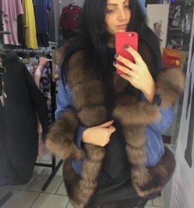 Продам куртку новая,мех натуральный