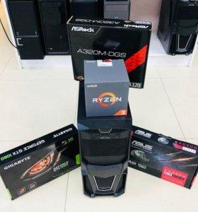 Мощный игровой Ryzen/8gb/1TB/ RadeonRX550-4Gb