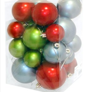 Набор елочных шаров 24 шт