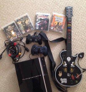 PlayStation 3 + джойстики + игры ps3