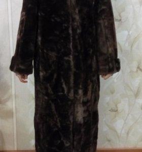 Шуба мутоновая с норковым воротником раз.48-50