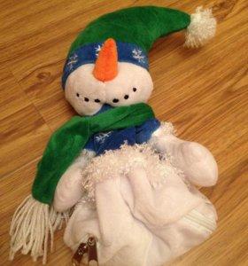 Снеговик с кармашком