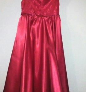 Платье шили на заказ на девочку 5-7лет