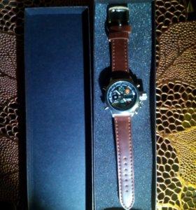Часы ZEIGER с кожаным браслетом (новые)