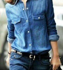 Джинсовая рубашка (блузка)