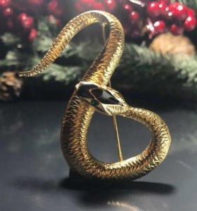 Брошь Змея Gucci (original)