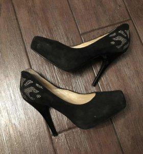 Туфли замша натуральная б/у