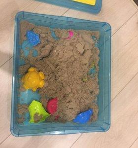 Космический песок, формочки, песочница