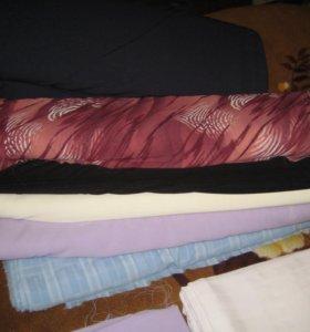 Остатки тканей трикотажных, шёлковых.