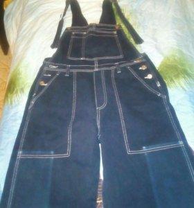 Комбинезон женский джинсовый можно для беременных