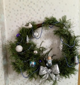 Натуральный Венок рождественский (новогодний)