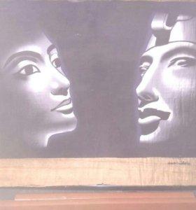 Картина на папирусе (Египет)