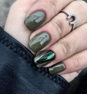 Наращивание и шеллак ногтей
