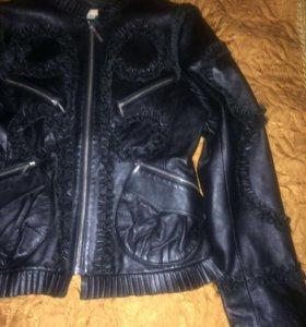 Дизайнерская кожаная куртка 😍
