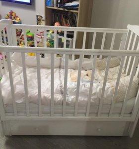 Кроватки с маятниковым механизмом Лель