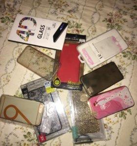 Чехлы и защитные стёкла на 6s IPhone