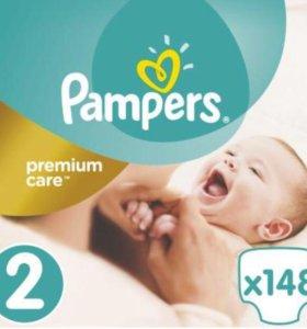 Подгузники Pampers Premium care 2 (3-6кг)  295шт