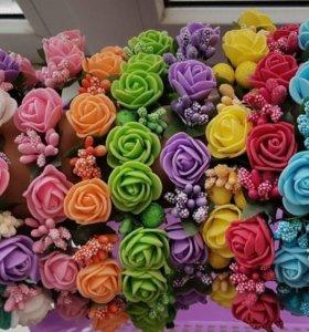 Ободки с цветками из фоамирана