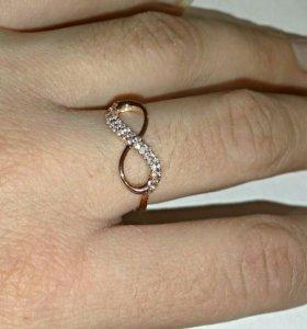 """Золотое кольцо """" бесконечность """"585"""