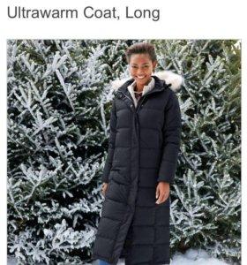 Пальто пуховое черное