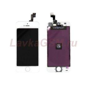 Дисплей iPhone 5S + тачскрин белый с рамкой крепле