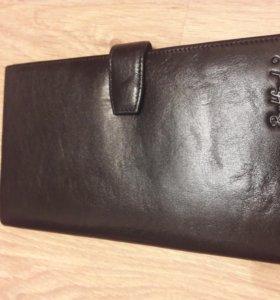 Портмоне клатч мужской новый кожаный в подарок