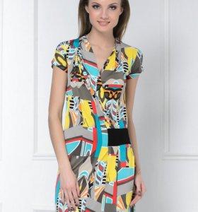 Новое платье -туника с запАхом р.46-48+