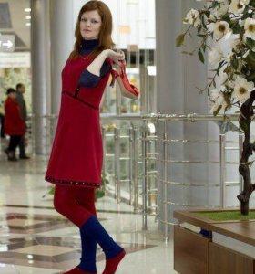 Яркие платья из тонкой шерсти