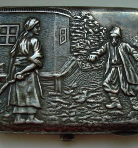 Серебряный наградной портсигар