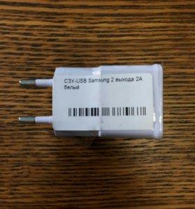 Зарядка на 2 ампера. 2 слота USB