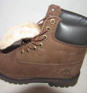 Ботинки Зимние Timberland Мех Нубук Кор.Беж.45