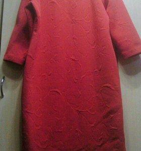 Красно-малиновая платья 52р