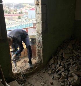 Демонтаж стен, перегородок