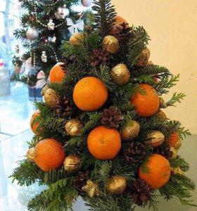 Новогодний подарок из фруктов