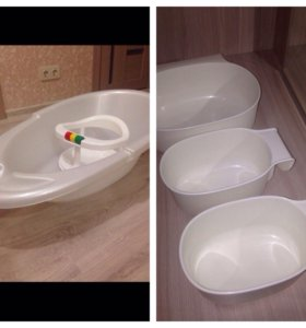 Ванночка, сиденье для купания, пеленальный матрас