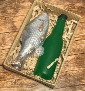 """Мыло ручной работы """"Пиво и рыбка"""""""
