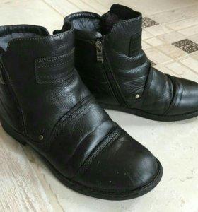 Ботинки зимние (кожа)