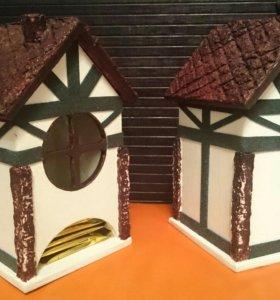 Чайный домик для чайных пакетиков в стиле Фахверк!