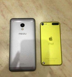Meizu M5s 16 гб и iPod 5 Touch 32 гб