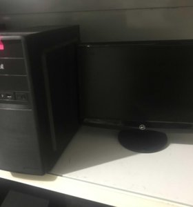 4 ядра игровой амд /монитор 20 дюйм