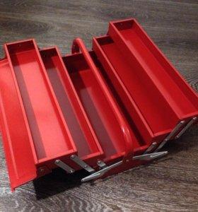 ящик для инструментов железный раздвижной