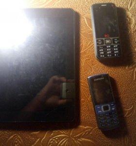 Планшет и телефоны
