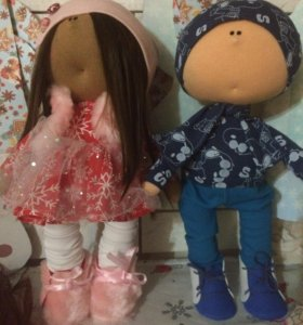 Куклы интерьерные пара